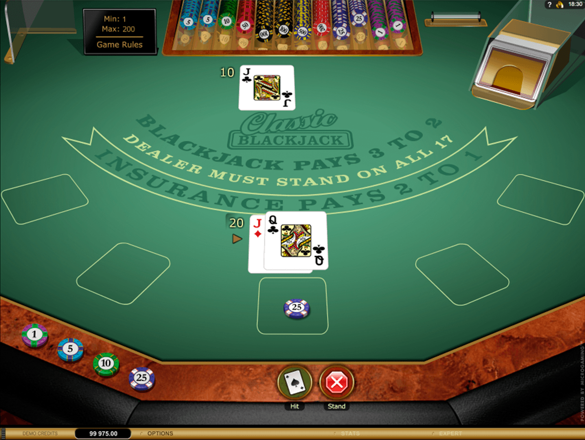 classic blackjack gold microgaming